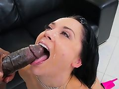 KristinaRose handle Lexingtons BBC in her butthole