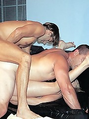 Bisex studs licking dick and sucking pussy