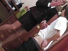 Crossdressing cute secretary