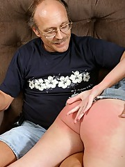 Pervy old dude gets off on spanking girls