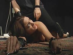 Redhead slave endures and plesures in bondage