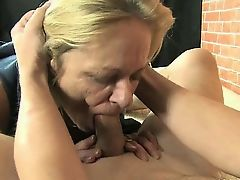 Dirty mature whore gets horny sucking part3