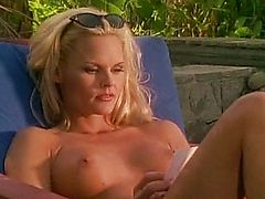 Blond babes having sex while husband watches