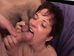 Hot mature couple fucks hardly