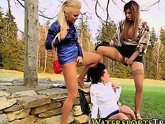 Lesbo trio piss drenching