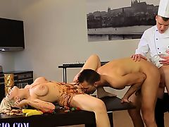 Bisexual threesome cum