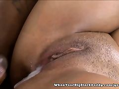Thick Redbone Ebony Gets Messy Pussy Creampie