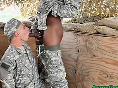 Uniformed soldiers fucking and sucking