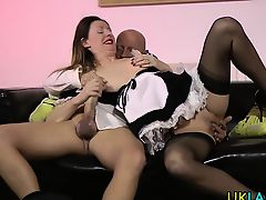 Creampied british maid
